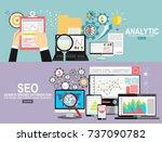 flat design infographics...   Shutterstock .eps vector #737090782