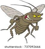 cartoon of an angry cockroach   Shutterstock .eps vector #737092666