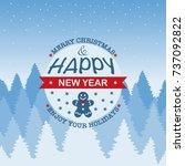 christmas logo  banner  label ... | Shutterstock .eps vector #737092822
