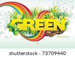 green vector illustration | Shutterstock .eps vector #73709440