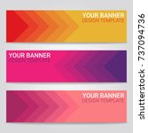 abstract beautiful banner... | Shutterstock .eps vector #737094736