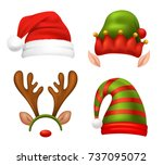 Santa Claus Concept Icons Set...