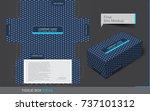 tissue box template concept ... | Shutterstock .eps vector #737101312