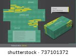tissue box template concept ... | Shutterstock .eps vector #737101372
