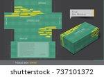 tissue box template concept ... | Shutterstock .eps vector #737101372