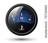 motor temperature gauge icon....   Shutterstock .eps vector #73710403