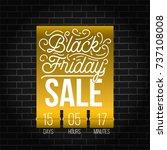 abstract vector black friday... | Shutterstock .eps vector #737108008