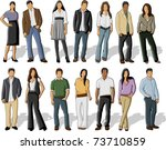 group of business and office... | Shutterstock .eps vector #73710859