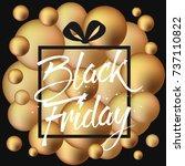 abstract vector black friday... | Shutterstock .eps vector #737110822