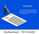 isometric 3d concept vector... | Shutterstock .eps vector #737111632