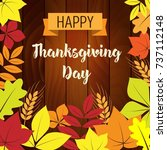 happy thanksgiving day... | Shutterstock .eps vector #737112148