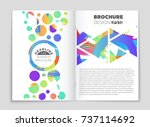 abstract vector layout... | Shutterstock .eps vector #737114692
