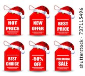 beautiful sale labels with red...   Shutterstock .eps vector #737115496