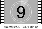 a classic movie countdown frame ... | Shutterstock .eps vector #737118412