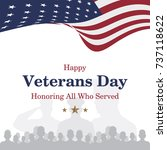 happy veterans day. greeting...   Shutterstock .eps vector #737118622