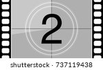 a classic movie countdown frame ... | Shutterstock .eps vector #737119438