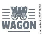 wagon logo. vintage...   Shutterstock .eps vector #737120332