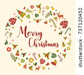 merry christmas illustration... | Shutterstock .eps vector #737120452