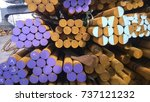 steel rods in stock. the... | Shutterstock . vector #737121232
