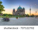 berlin cathedral  berliner dom  ... | Shutterstock . vector #737122702