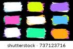 grunge splatter. ink stains... | Shutterstock .eps vector #737123716