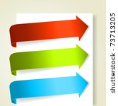 set of colorful arrows. vector... | Shutterstock .eps vector #73713205