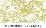 detailed vector map of nairobi... | Shutterstock .eps vector #737132452