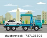 car rescue service drawing... | Shutterstock .eps vector #737138806