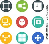 origami corner style icon set   ... | Shutterstock .eps vector #737139802