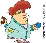 cartoon woman who has given up...   Shutterstock .eps vector #737140846