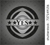 yes black emblem | Shutterstock .eps vector #737149156