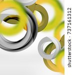 abstract rings composition in... | Shutterstock .eps vector #737161312