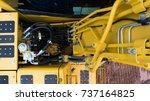 backhoe hydraulic systems  | Shutterstock . vector #737164825