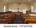 inside an old country church... | Shutterstock . vector #737167336
