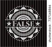 false silvery shiny emblem | Shutterstock .eps vector #737168866