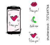 set of abstract icons  stickers.... | Shutterstock . vector #737169766