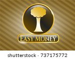 golden badge with tree icon... | Shutterstock .eps vector #737175772