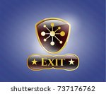 shiny badge with business... | Shutterstock .eps vector #737176762
