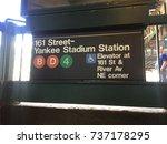 bronx  new york city   october... | Shutterstock . vector #737178295