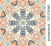 vector abstract ethnic seamless ... | Shutterstock .eps vector #737179585