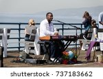 santa monica  california  usa ... | Shutterstock . vector #737183662