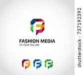 this is a f logo used for many... | Shutterstock .eps vector #737192392