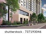 3d illustration residential... | Shutterstock . vector #737193046