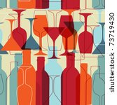 seamless background with wine... | Shutterstock .eps vector #73719430