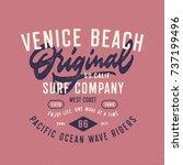 venice beach original surf... | Shutterstock .eps vector #737199496
