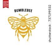 honey bee vector illustration.... | Shutterstock .eps vector #737199532