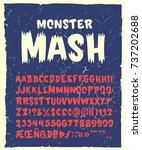 vintage hand drawn typeface ... | Shutterstock .eps vector #737202688