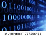 digital technologies. binary... | Shutterstock . vector #737206486