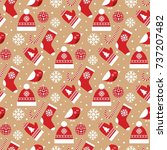 christmas seamless pattern with ...   Shutterstock .eps vector #737207482