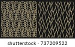 3d render lattice gold | Shutterstock . vector #737209522